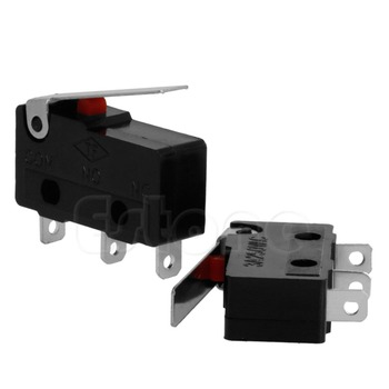 2 ADET 3A AC C + NO + NC Micro Limit Sensör Switch Rulo Kol Kolu Subminiature m18