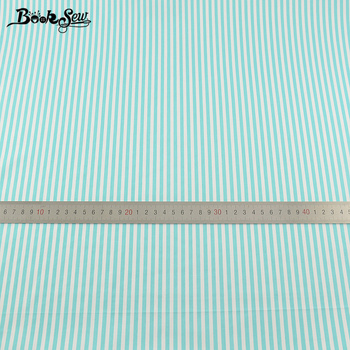 Booksew Light Green Cotton Twill Fabric Strips Design Home Textile Patchwork Bedding Clothing Baby Quilting Tecido