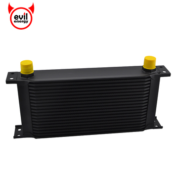 Evil energy 19 Row Universal Sliver 10AN Aluminum Transmission Cooler  Engine Oil Cooler Racing Oil Cooler Raditor Universal