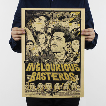 Inglourious Basterds/bir Quentin film/klasik Hollywood film/kraft kağıt/bar poster/Retro Poster/dekoratif boyama 51x35.5 cm