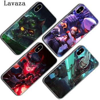 Lavaza League of Legends Teemo Ezreal sert telefon kılıfı için Apple iPhone X XS Max XR 6 6 S 7 8 artı 5 5 S SE 5C 4 S 10 kapak kılıfları
