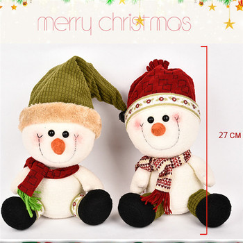 New Cute Christmas Couples Snowman Dolls Baby Plush Stuffed Toys 27cm Cute Doll Toys for Children Girl